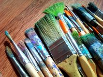 Cepillos para dibujar Imagen de archivo libre de regalías