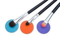 Cepillos para el maquillaje fotografía de archivo libre de regalías