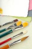 Cepillos para la tarjeta o la pedazo-reservación Foto de archivo libre de regalías
