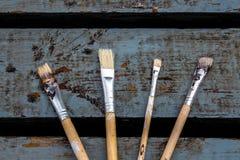 Cepillos para pintar Foto de archivo