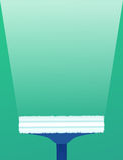 Cepillos planos del ejemplo para las ventanas que se lavan Foto de archivo libre de regalías