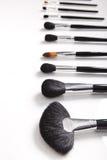 Cepillos profesionales del maquillaje Imagen de archivo libre de regalías