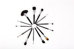 Cepillos profesionales del maquillaje Foto de archivo libre de regalías