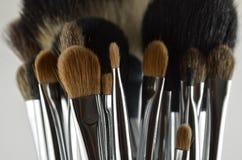 Cepillos profesionales del maquillaje Fotografía de archivo