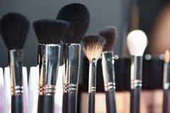 Cepillos profesionales del maquillaje Foto de archivo