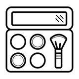 Cepillos profesionales del maquillaje para el maquillaje ilustración del vector