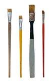 Cepillos usados del arte Imágenes de archivo libres de regalías