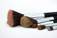 Cepillos usados, no limpio Uso de la imagen para que accesorios compongan foto de archivo