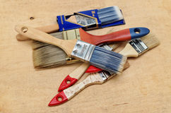 Cepillos viejos y nuevos Imágenes de archivo libres de regalías