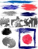 Cepillos y banderas Imagen de archivo libre de regalías