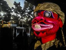 Cepot a posição tradicional do fantoche de Sunda fotos de stock royalty free