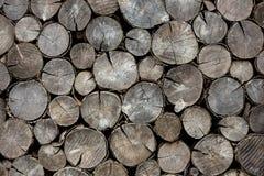 Ceppi asciutti della legna da ardere del fondo Immagini Stock Libere da Diritti