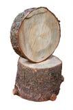 Ceppo di legno due immagine stock libera da diritti