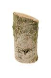 Ceppo di legno isolato sui precedenti bianchi Fotografia Stock Libera da Diritti