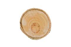 Ceppo di legno isolato sui precedenti bianchi Fotografia Stock