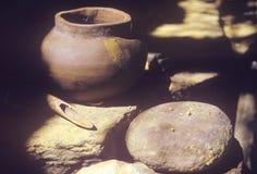 Cerámica antigua, pueblo en la nación cherokee, AUTORIZACIÓN de Tasalagi fotos de archivo libres de regalías