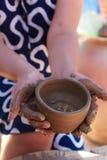 Cerámica de cerámica de la arcilla Imagen de archivo libre de regalías