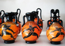 Cerámica de cerámica, Grecia Imagenes de archivo