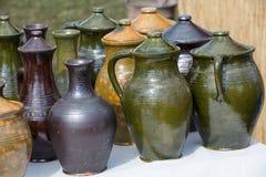 Cerámica de cerámica hecha a mano Fotografía de archivo libre de regalías