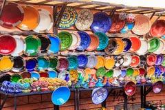Cerámica de cerámica tradicional en Marruecos Foto de archivo libre de regalías