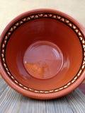 Cerámica de cerámica esmaltada hecha a mano Foto de archivo