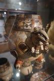 Cerámica del siglo XIV San Jose Jade Museum del gato fotografía de archivo