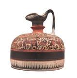 Cerámica grecorromana antigua aislada. Foto de archivo