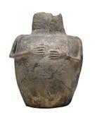 Cerámica grecorromana antigua aislada. Imagen de archivo libre de regalías