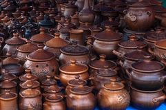 Cerámica, loza de barro, clayware, loza, gres fotografía de archivo