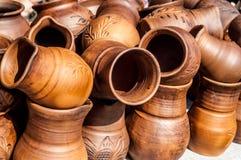 Cerámica, loza de barro, clayware, loza, gres foto de archivo libre de regalías