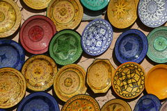 Cerámica marroquí Fotografía de archivo