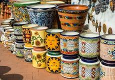 Cerámica mexicana colorida Foto de archivo