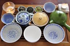 Cerámica oriental del té   Fotografía de archivo