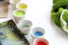 Cerámica, pigmento de cerámica Foto de archivo libre de regalías