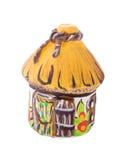 Cerámica tradicional ucraniana de la cerámica con el texto Fotografía de archivo libre de regalías