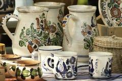 Potes Handcrafted de Rumania Fotos de archivo