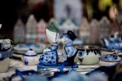 Cerâmica de Delftse Blauwe Fotos de Stock