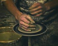 Cerâmica, escultor, oleiro retro Foto de Stock Royalty Free
