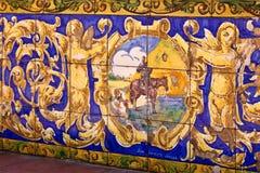 Cerâmica esmaltada espanhola na cidade de Buenos Aires fotografia de stock royalty free