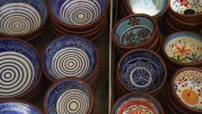 Cerâmica feito à mão, oficina do ` s do oleiro, video estoque