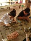 Cerâmica feito a mão Fotos de Stock Royalty Free
