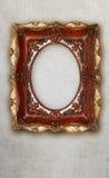 Cerâmica feito a mão da moldura para retrato antiga isolada no fundo de mármore do efeito Fotos de Stock