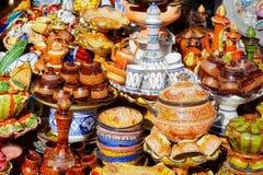 Cerâmica marroquina tradicional Fotografia de Stock Royalty Free