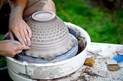 Cerâmica na fatura Fotografia de Stock Royalty Free