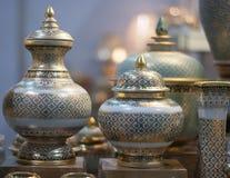 Cerâmica pintada tailandesa imagens de stock