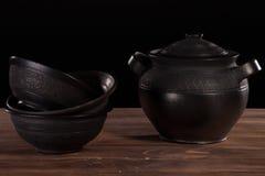 Cerâmica preta imagem de stock