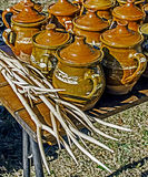 Cerâmica romena tradicional 5 Fotografia de Stock Royalty Free