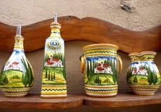 Cerâmica tradicional de Tuscan fotografia de stock royalty free