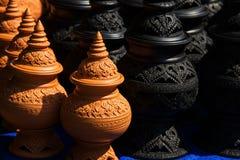 Cerâmica tradicional tailandesa da argila Fotografia de Stock