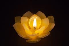 Cera da vela nos lótus Imagem de Stock
